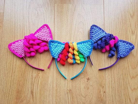 Pink Satin Girls Party Hairband Headband Alice Band Sparkly Rainbow Butterfly