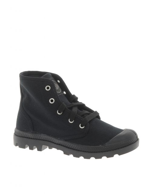 Palladium Pampa Black Hi Lace Up Ankle Boots