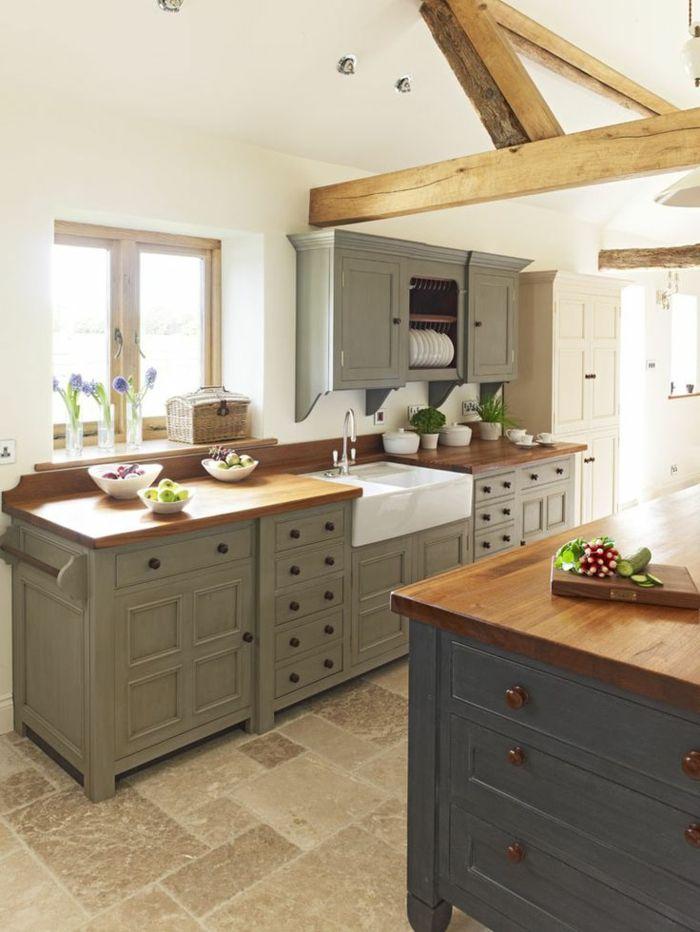 La poutre en bois dans 50 photos magnifiques cuisine for Carrelage bois leroy merlin