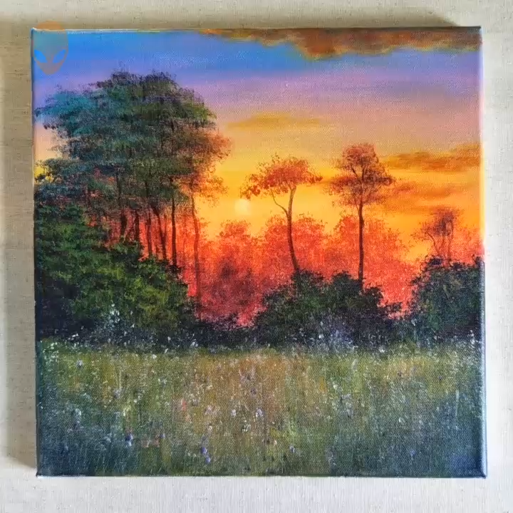 great handmade paintings of nature pictures for decoration