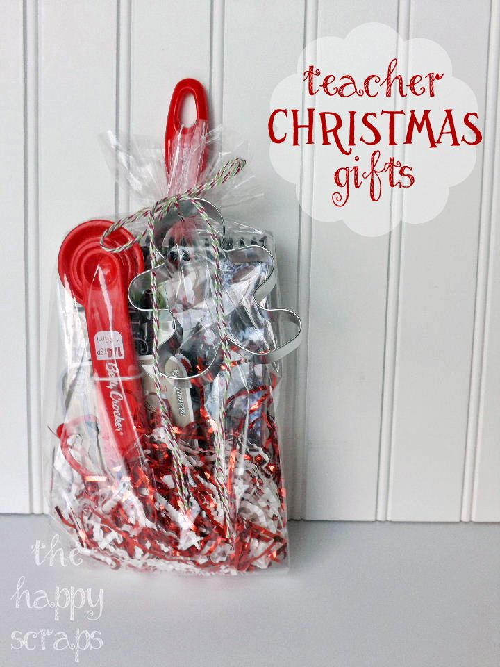Christmas Teacher Gift at The Happy Scraps | Holiday | Pinterest