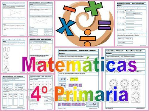 Fichas de Matemáticas Cuarto Primaria   MATEMATICA   Pinterest ...