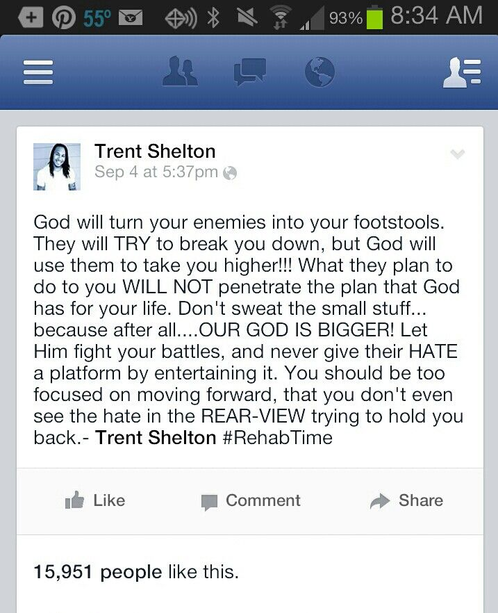 Google Real Time Quotes Api: Trent Shelton~rehab Time On Pinterest