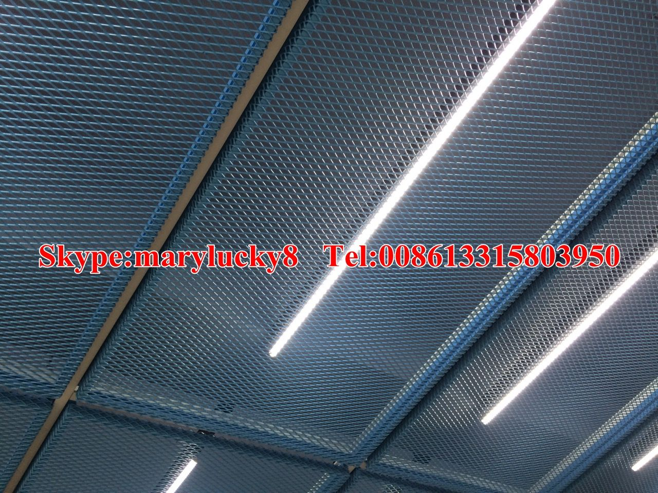 Hook on expanded metal ceiling/Powder coated expanded metal ceiling ...