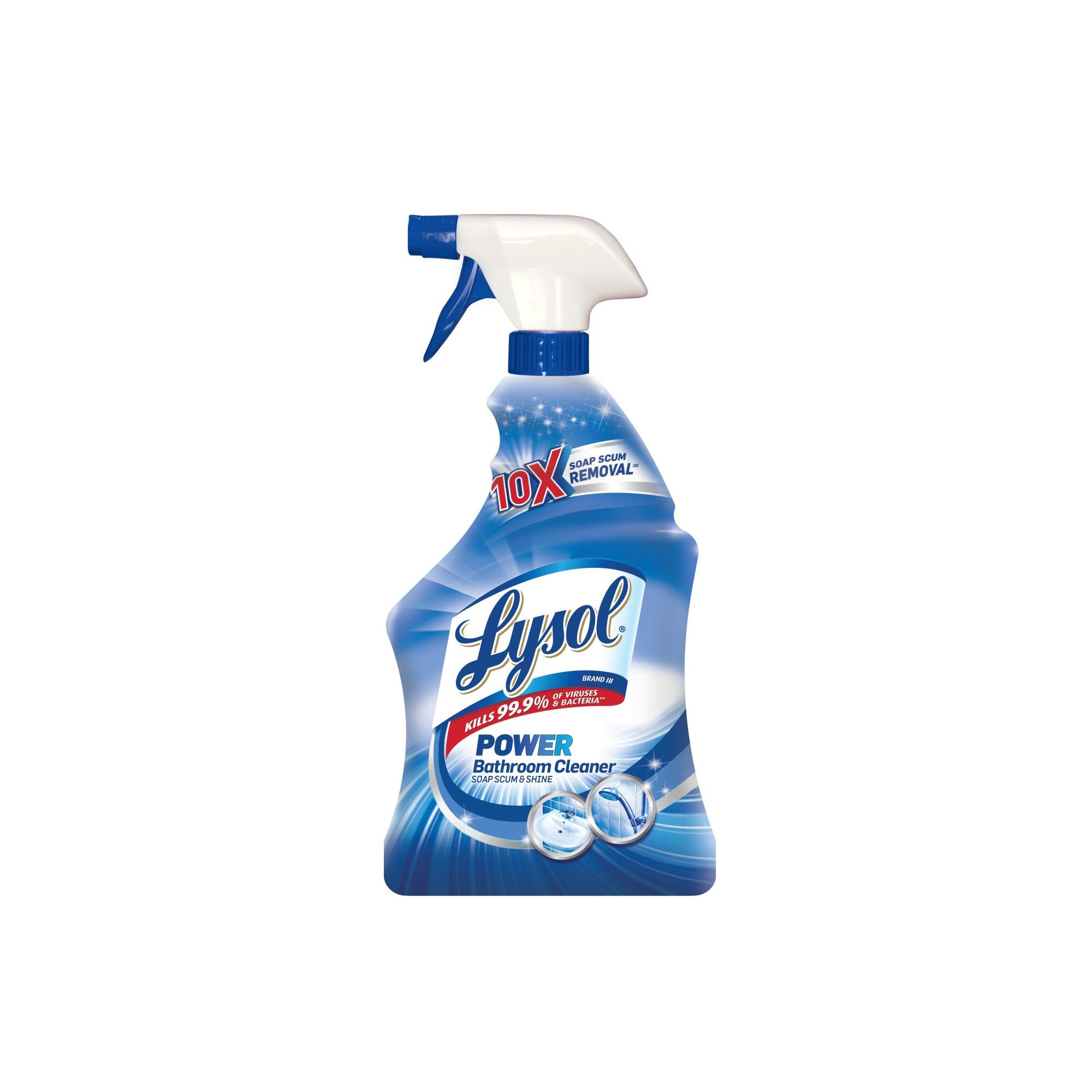 Lysol Power Bathroom Cleaner Soap Scum Shine 28oz Lysol