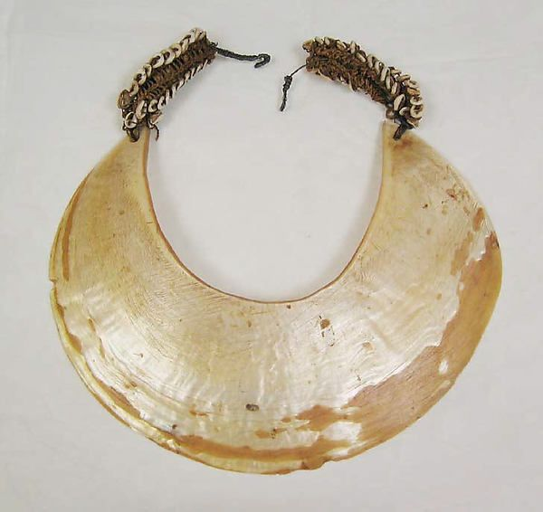 Necklace Date: early 20th century Culture: Oceanic Medium: shell, hemp, metal Dimensions: Length: 10 in. (25.4 cm) Width: 9 1/2 in. (24.1 cm)