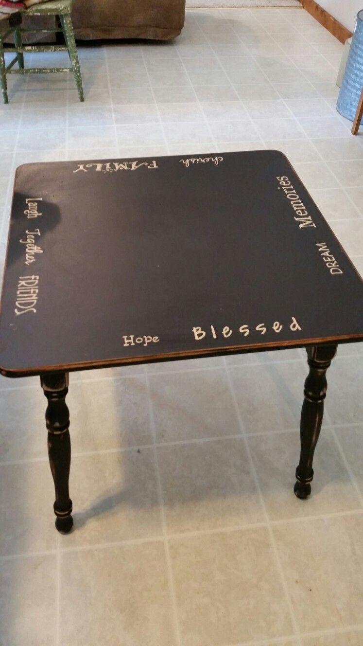Black coffee table $65