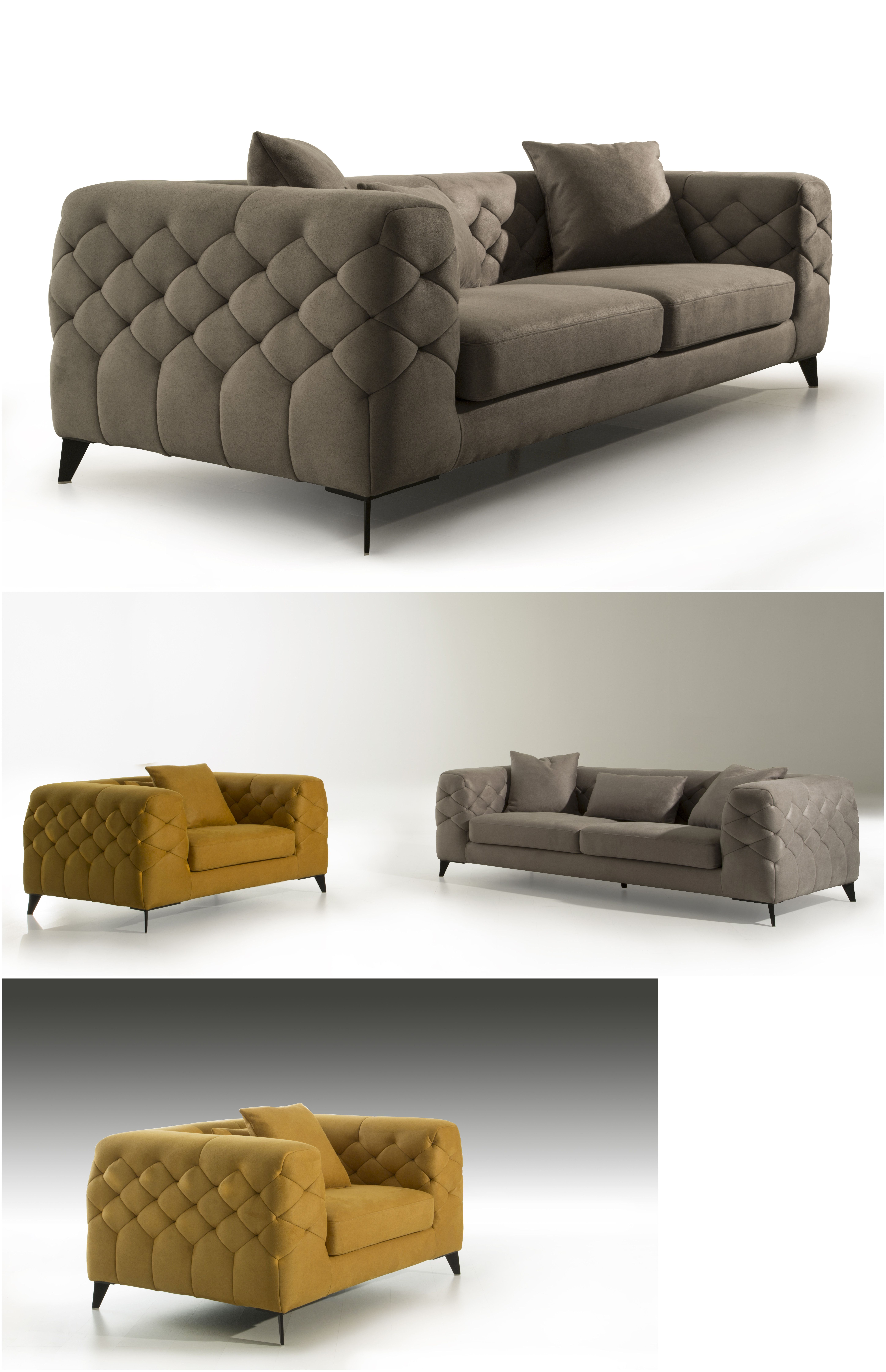 Fashionable Home Furniture Lounge Wooden Tufted Modern Sofa Designs ...