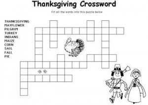 Thanksgiving Puzzles And Coloring Pages Daily Dish With Foodie Friends Friday Thanksgiving Puzzle Thanksgiving Crossword Thanksgiving Activities For Kids