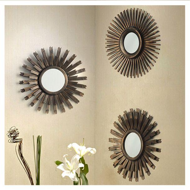 espejos decorativos circulares dise o de sol marco de pl stico en