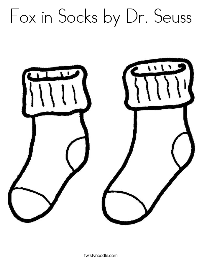 Fox in Socks by Dr Seuss Worksheet - Twisty Noodle