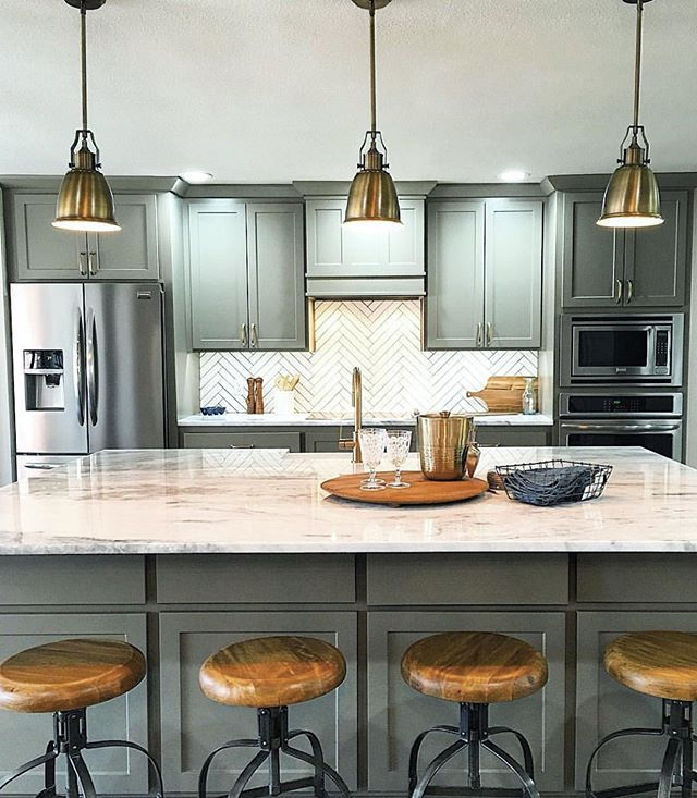 Kitchen Renovation From Open Concept On Hgtv Love This Cabinet Color Is Anonymous By Sherwin Williams Backsplash Tile The And