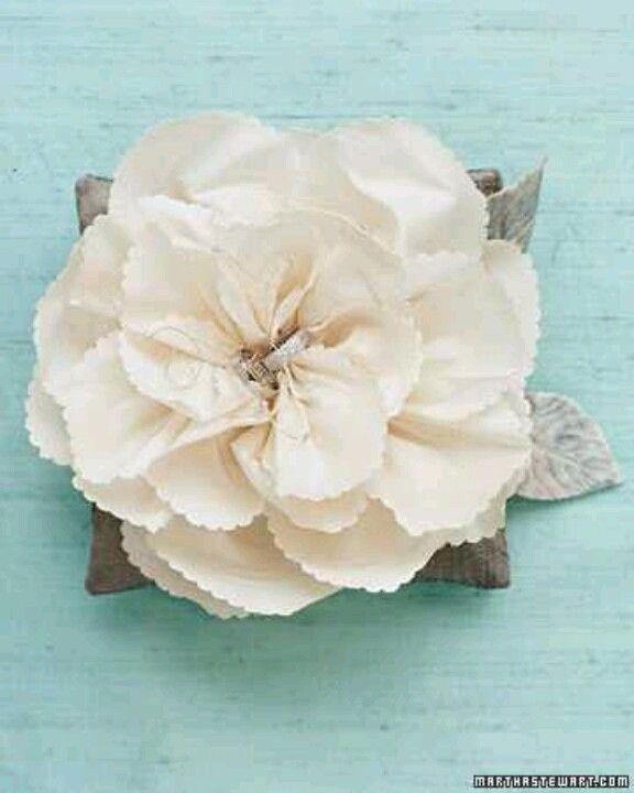 Silk flower ring pillow