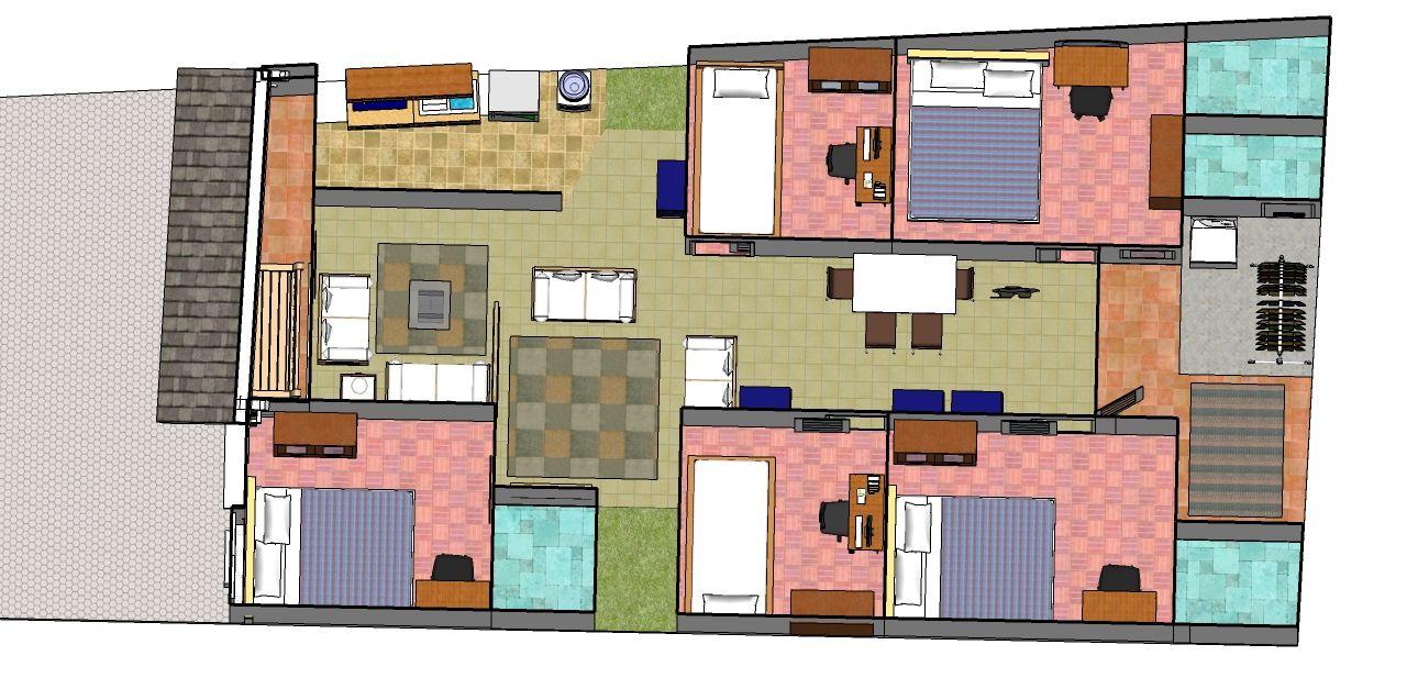 desain rumah kecil dengan 5 kamar tidur | home | home