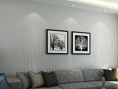 Bloss 3d Modern Wallpaper Roll Silver Gray Background For Living
