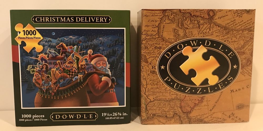 1000 Piece Dowdle Folk Art Christmas Delivery