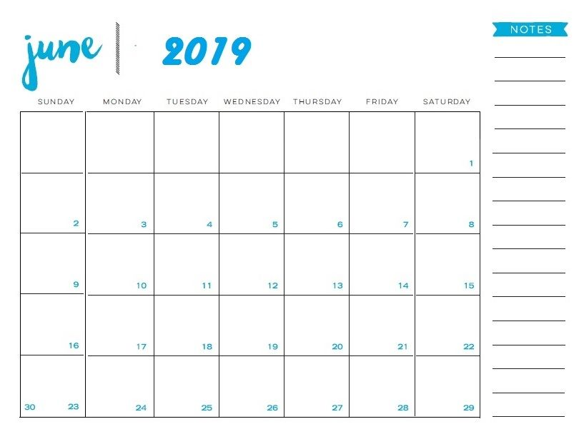 photograph regarding Printable June referred to as Printable June 2019 Calendar Calendar 2018 within 2019 June