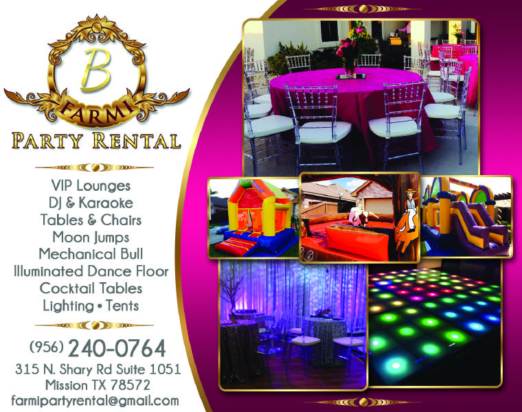 Farmi Party Rental will bring your party to the next level, looking - party rental flyer