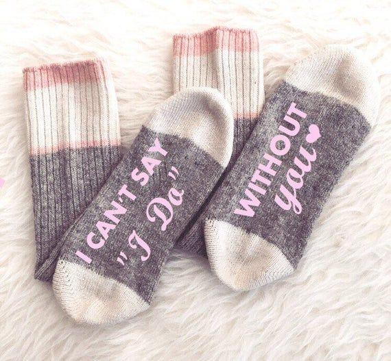 Brautjungfer Vorschlag Socken Ich kann nicht sagen, dass ich ohne dich tun, Bridal Party Socks Custo …   – Products