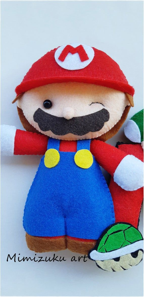 Mario Bross banner felt banner felt Mario Bross Felt Luigi   Etsy