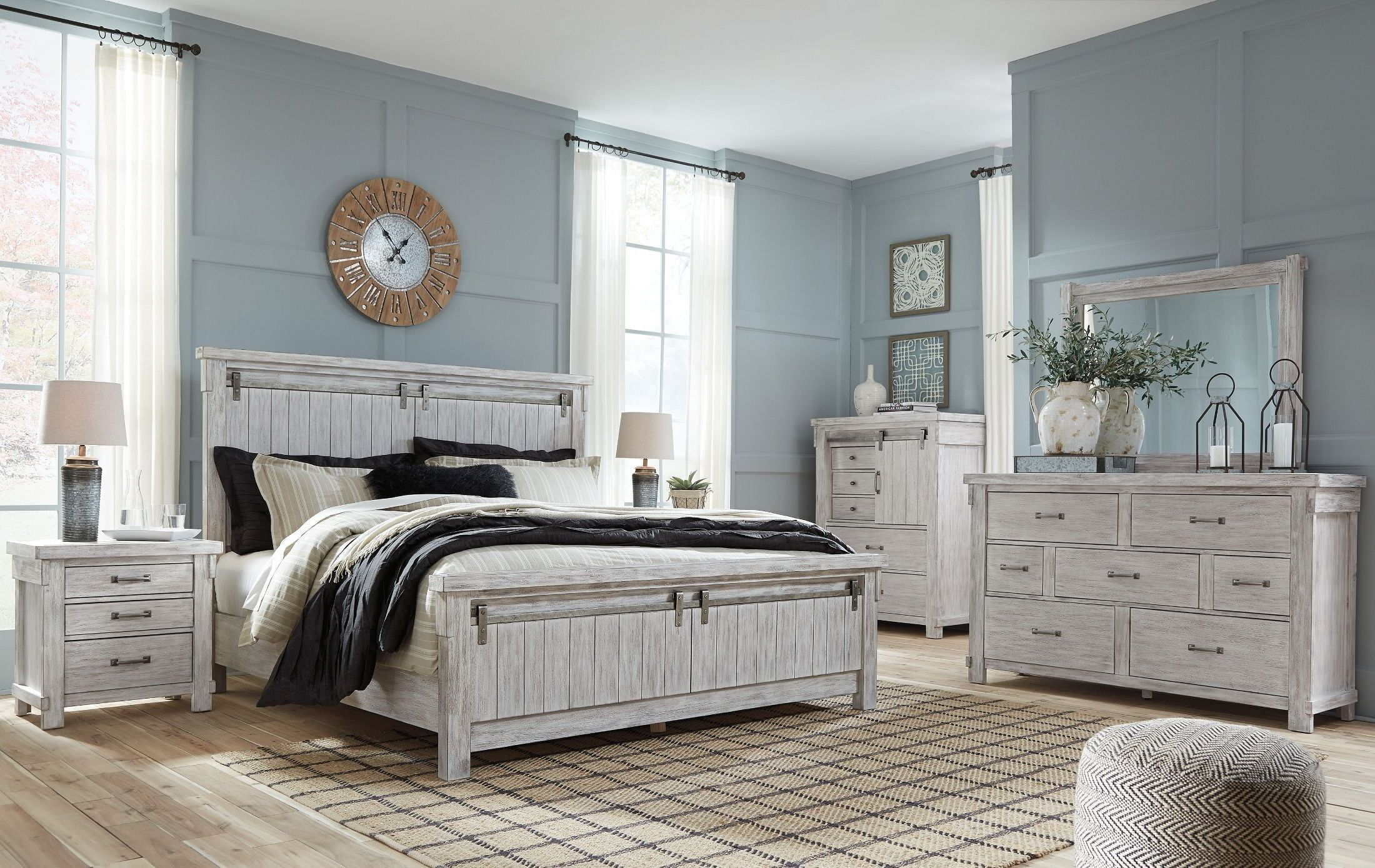 Best Brashland White Panel Bedroom Set King Bedroom Sets 400 x 300