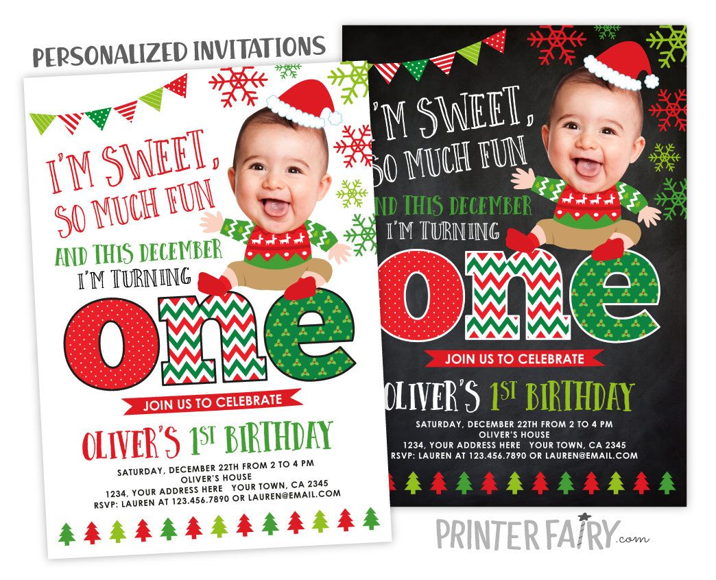 Christmas Birthday Invitation, Ugly Sweater First Birthday Invitation, Ugly Sweater Party, Christmas Invitation, Digital Personalized Invite