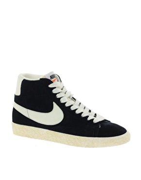 Tranquilizar Sótano Luna  Nike Blazer High Vintage Black Trainers. Mine.   Black leather sneakers, Nike  blazer, Nike