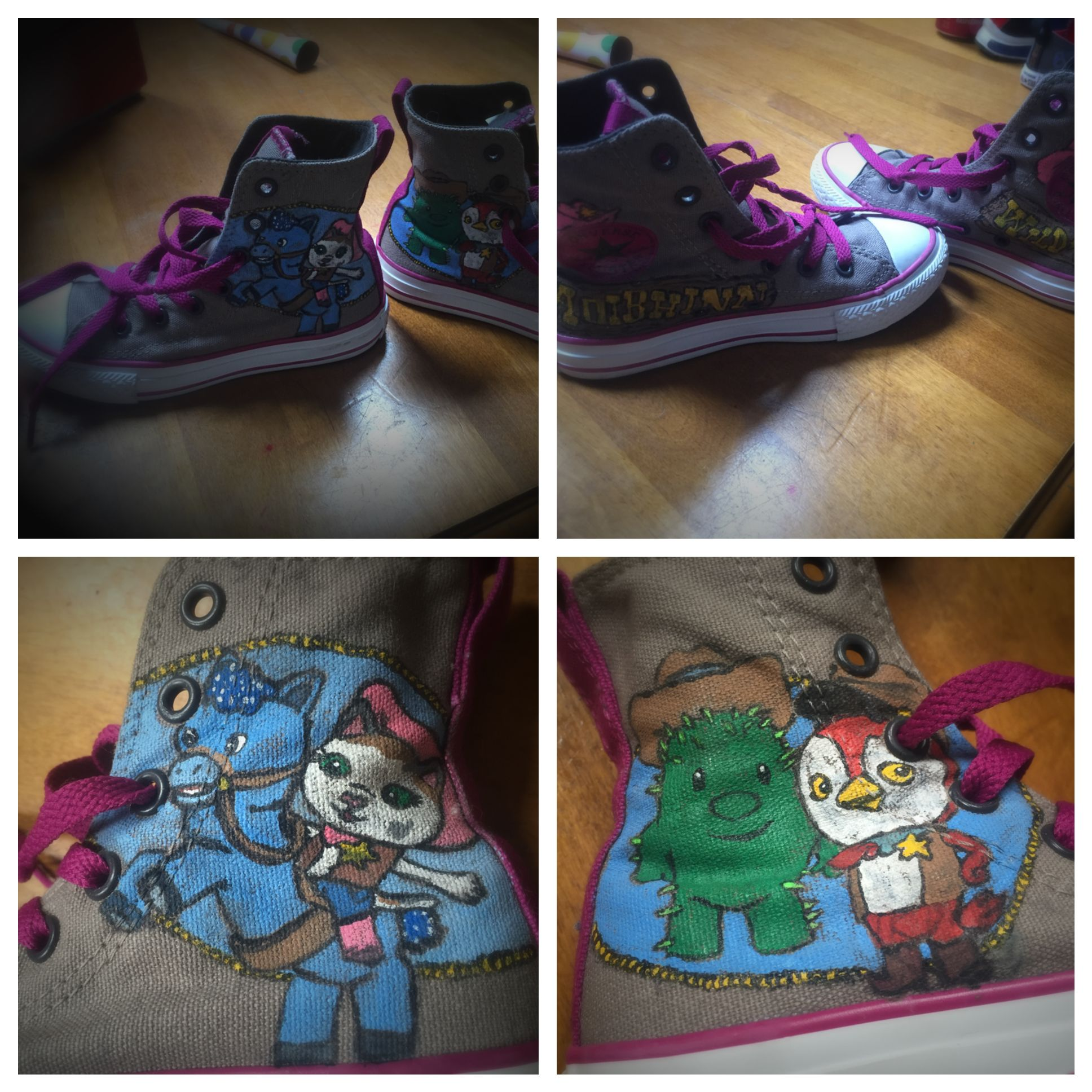 Sheriff Callie hand painted shoes