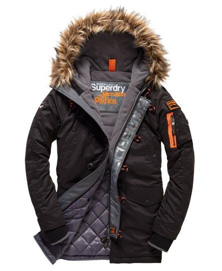 Superdry Microfibre Parka Coat   Men s Things   Parka, Parka coat ... 2f3a114bf52d