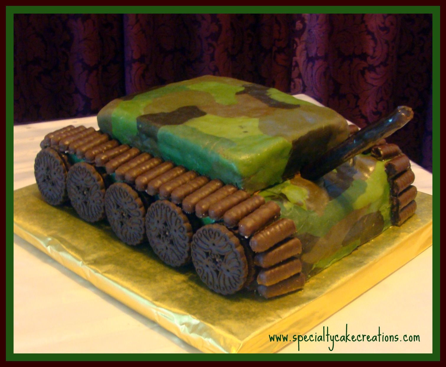 cake ideas for kids Specialty Cake Creations Specialty Army Tank