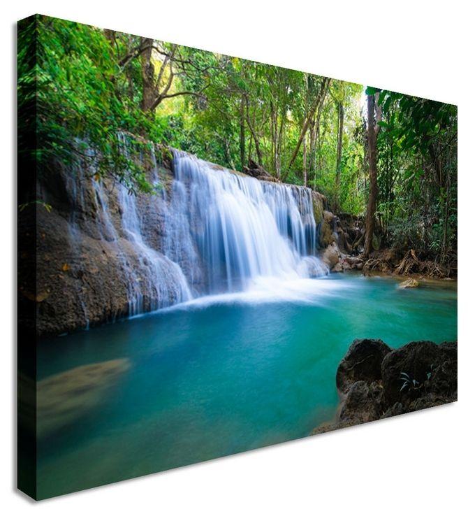 Waterfall Kanchanaburi Thailand By Landscape Art Canvas Prints, Canvas Art  Cheap Prints By Www.canvastown.co.uk