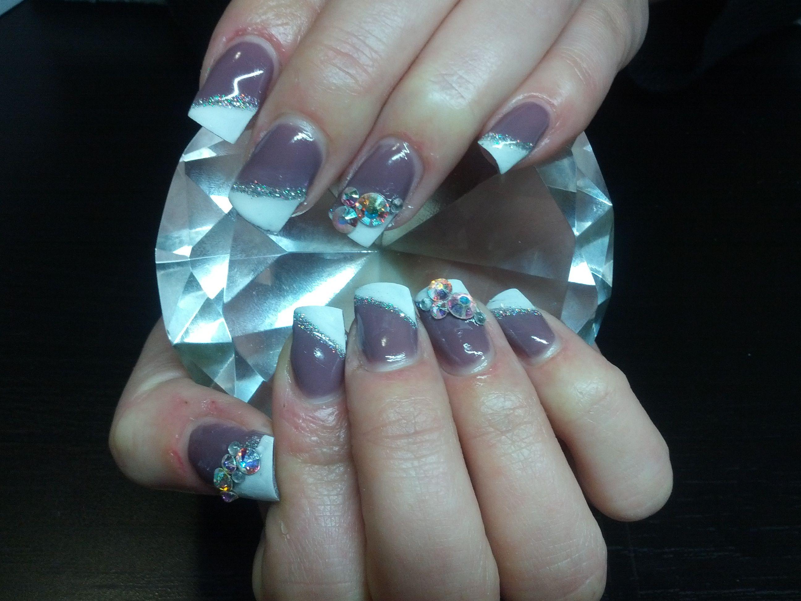 Day 115: Bling Side French Nail Art-(Gina Elliott, Urban Angel,