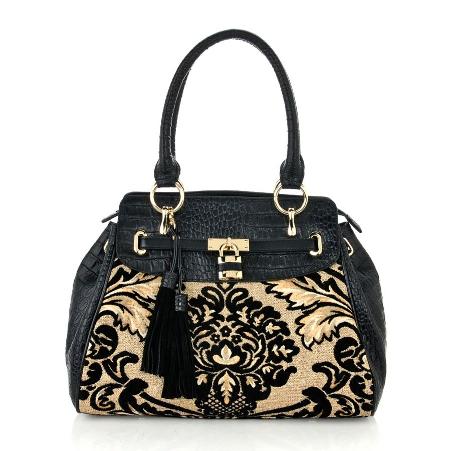 Purse Sharif Tapestry And Hornback Croco-embossed
