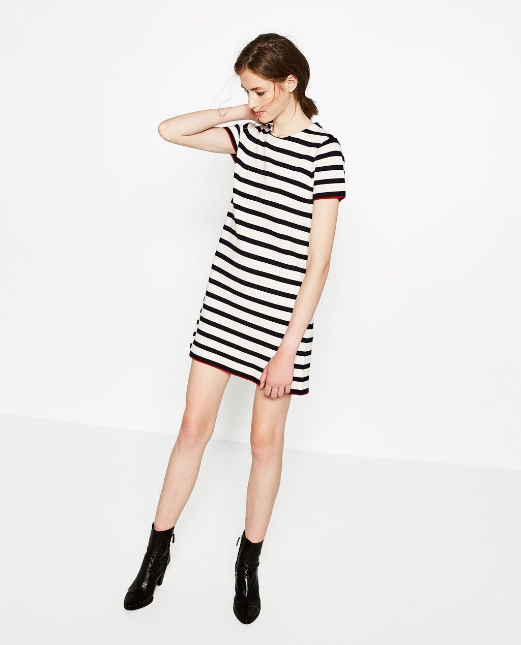 Image of short sleeve dress from zara ss pinterest short