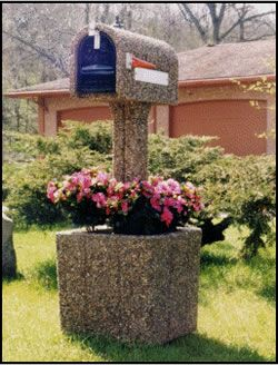 Concrete Mailboxes Mailbox Planter Combos Gang Mailboxes Mail