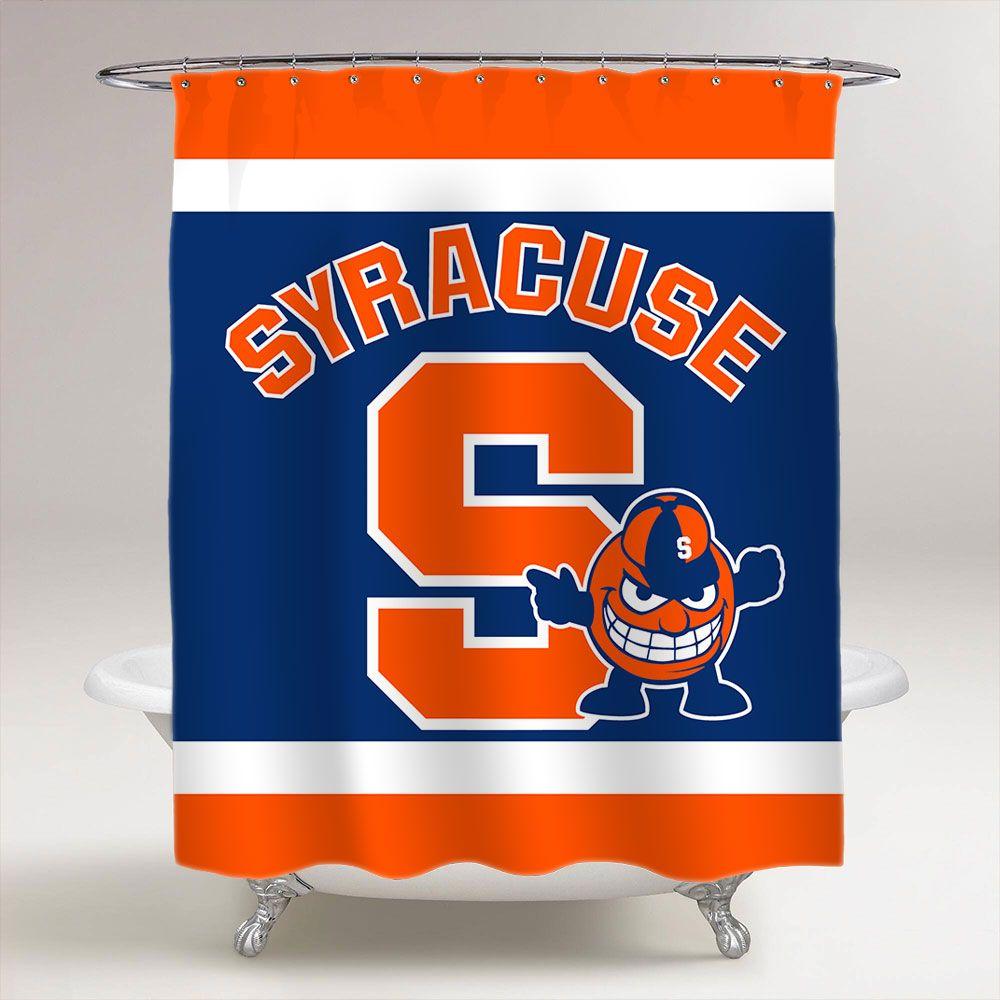 Syracuse Orange Bathroom Shower Curtain Orange Bathrooms