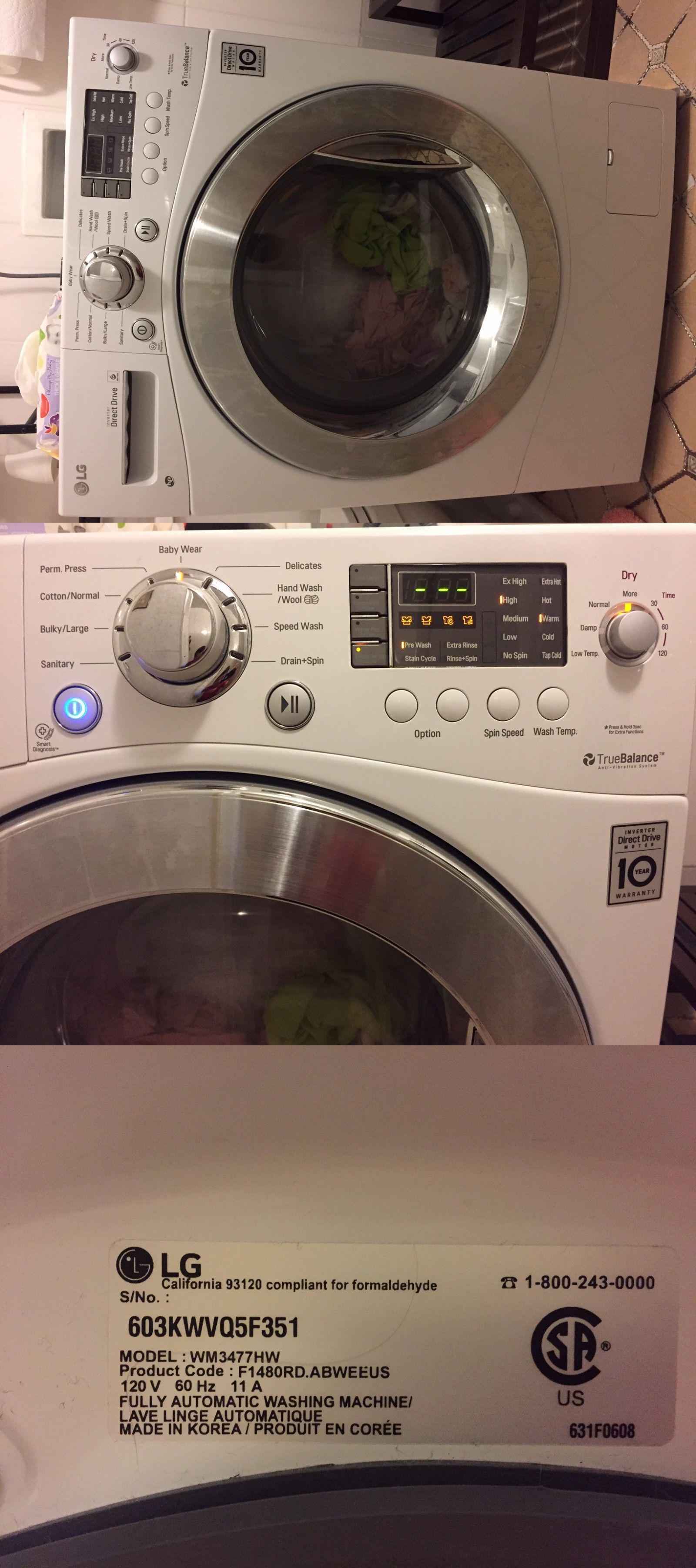 Washer And Dryer Sets 71257 Lg Washer Dryer All In One Combo Unit Buy It Now Only 950 On Ebay Lg Washer And Dryer Washer Dryer Combo Washer And Dryer
