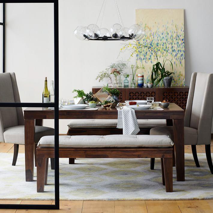 "Carroll Dining Table Grand 88"" Sheesham  Farm Dining Table Captivating Farmhouse Dining Room Table And Chairs 2018"