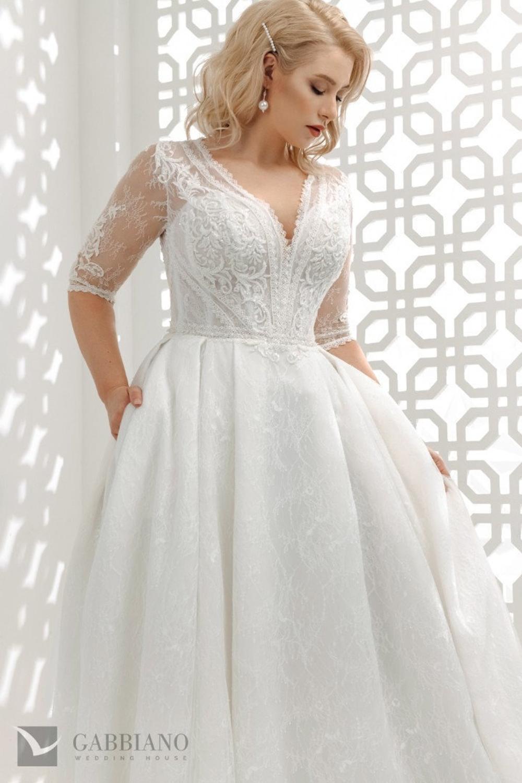 Beautiful Ballgown Plus Size 20 Quarter Sleeve Wedding Dress Bridal ...