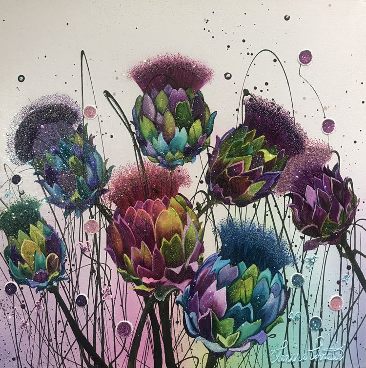 Artichoke Thistle Flower Flower Artists Flower Art Floral Art