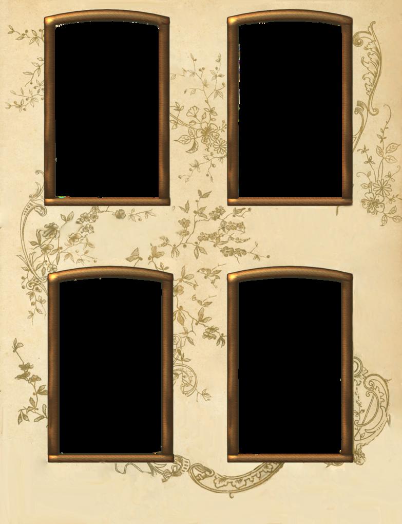 Vintage 4 window frame by jinifur on DeviantArt | ^__Decoupage_ ...