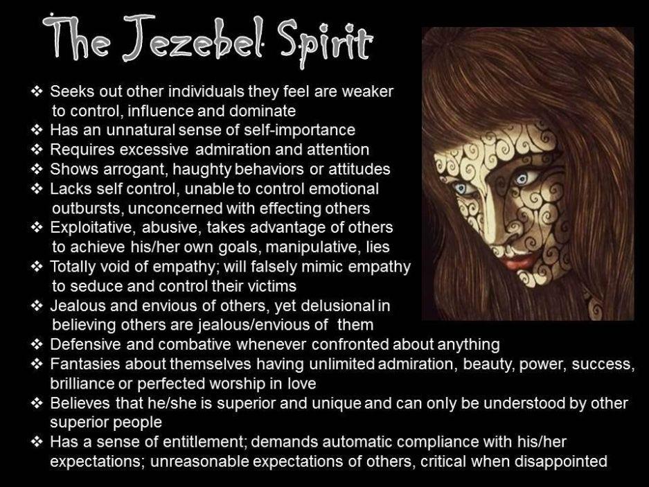 Jezebel Spirit aka sounds very familiar  I will pray often