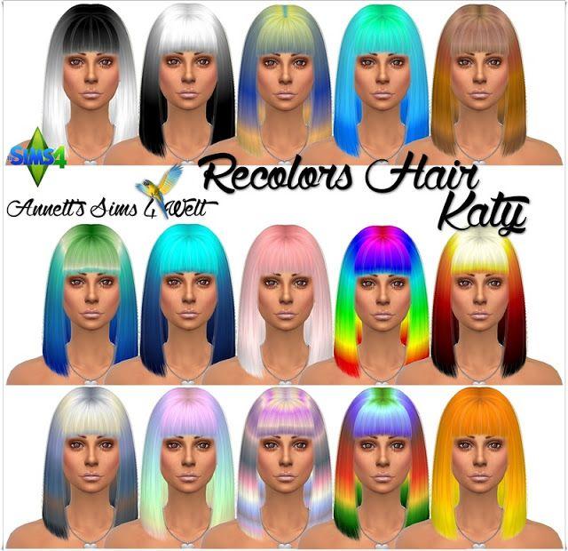 Annett's Sims 4 Welt: Recolors Hair - Katy