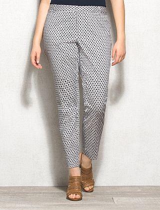 8d44c111c40 roz   ALI™ Plus Size Smart Fit Geo-Print Ankle Pants