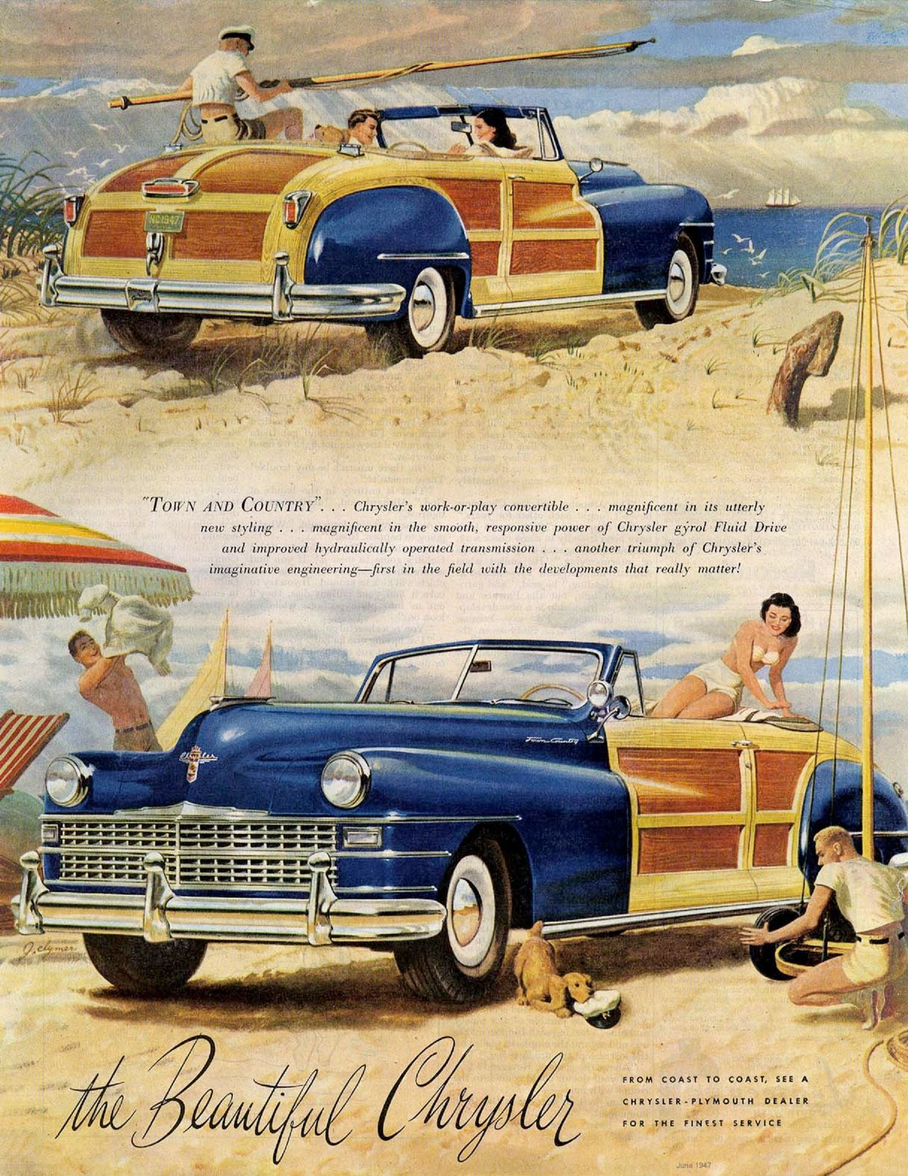 1947 Chrysler Town And Country Woody Car Pinterest Convertible 1949 Hubcaps