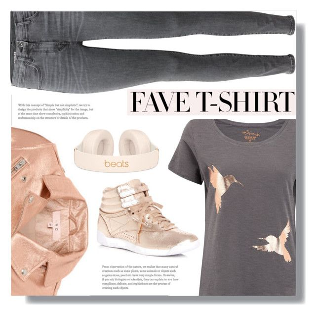 """""""Fave T-Shirt"""" by gracecar3 ❤ liked on Polyvore featuring IRO, Reebok and MyFaveTshirt"""