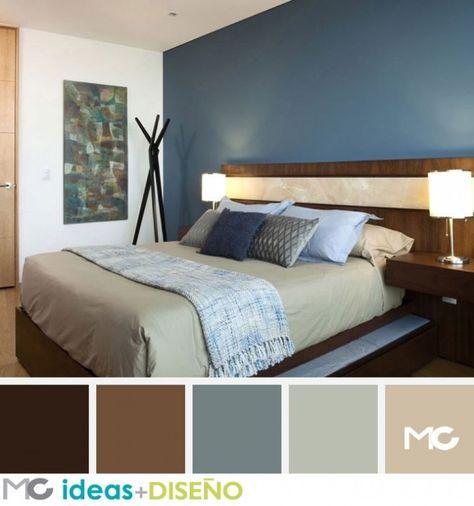 Habitaciones con toques chocolate decoracion casa - Decoracion interiores dormitorios ...