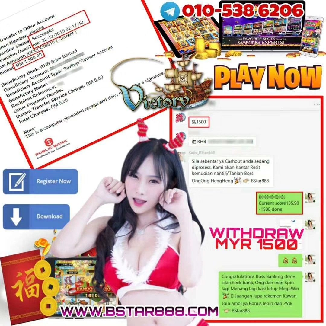 WITHDRAW RM1500 SIGN UP NOW! Welcome Bonus 30% - 50% Telegram: 010-5386206 Wechat: billionstar88…