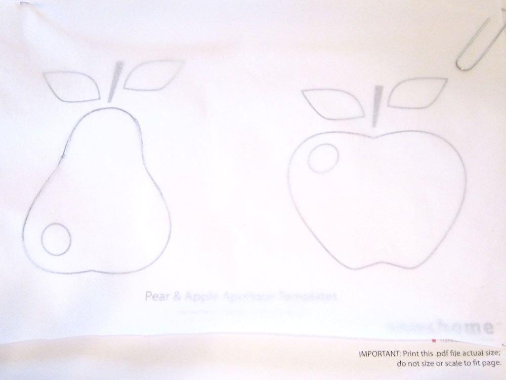 Beginner Friendly Appliquéd Apple & Pear Kitchen Towels | Sew4Home