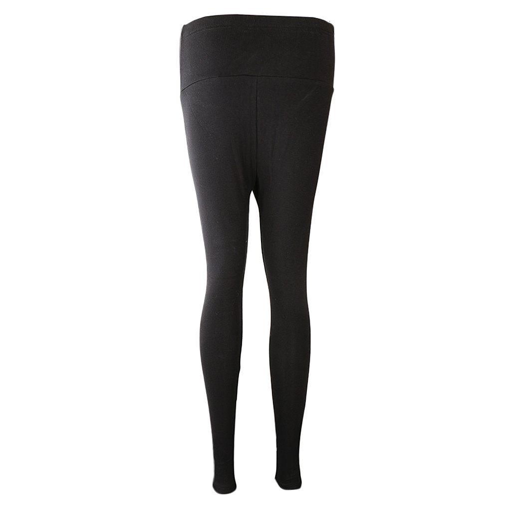 ONTBYB Women High Waist Elastic Waist Lace Leggings Yoga Pants